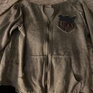 Boys Lucky Brand Gray Hoodie size 10/12 (L)